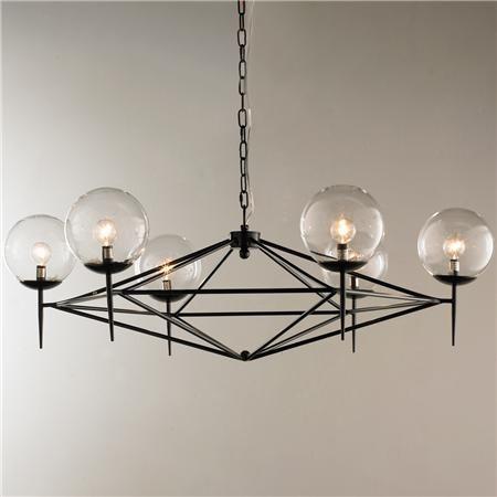 Modern Pyramid Glass Globes Chandelier