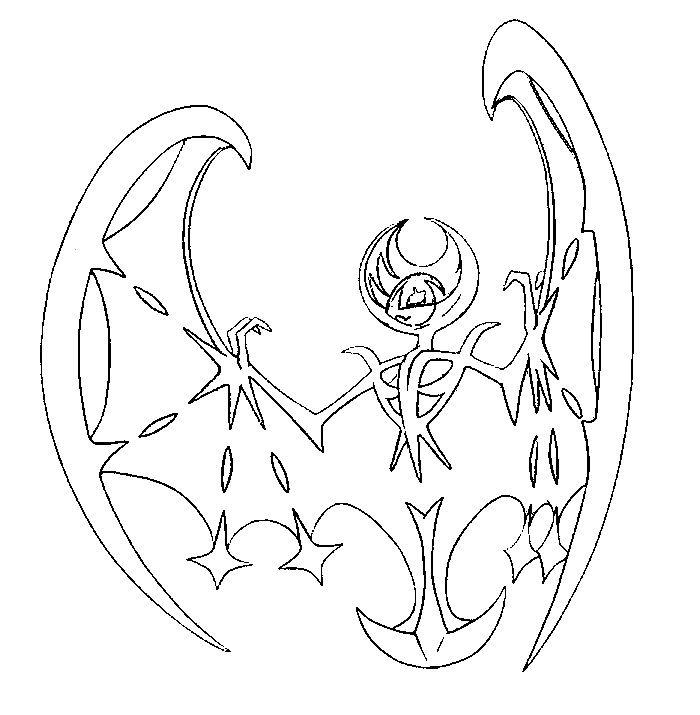 lunala  dibujos para colorear  pinterest  pokémon