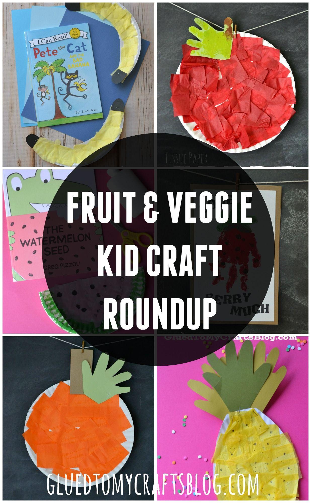 Fruit Amp Veggie Kid Craft Roundup