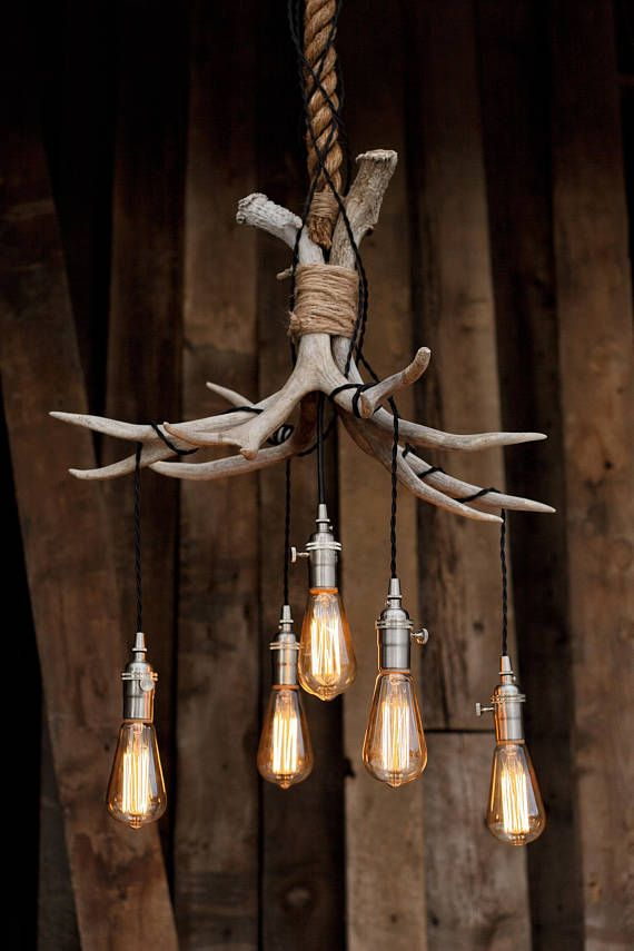 The Mountain Chandelier Antler Shed Pendant Rope Light
