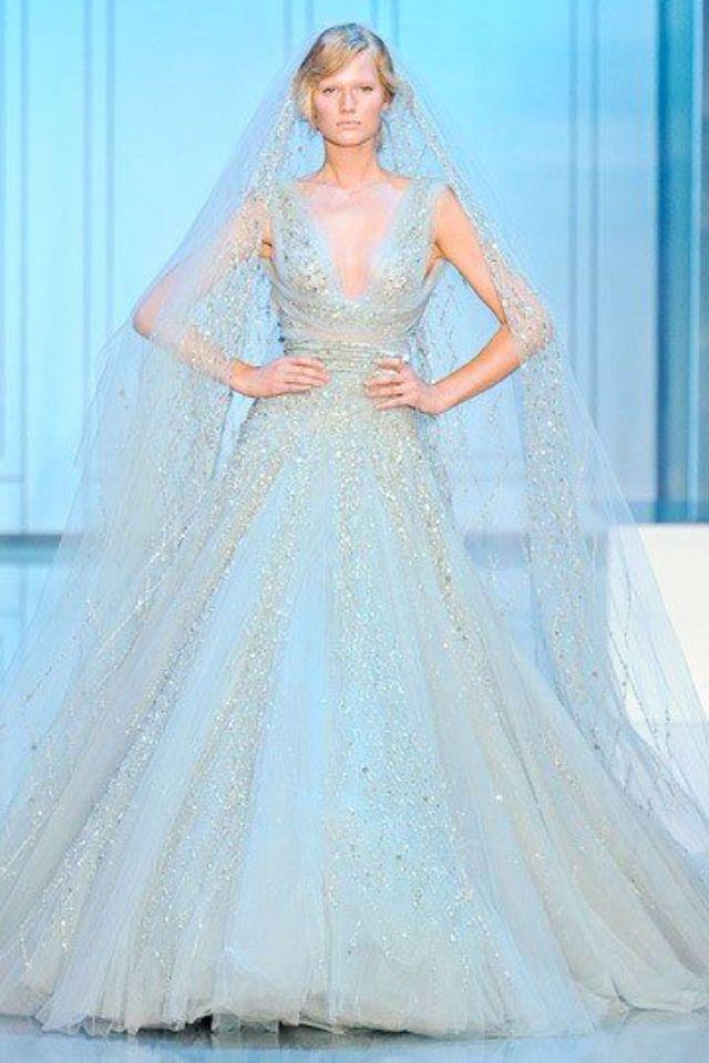 Powder Blue Wedding Dress Dream Wedding Pinterest