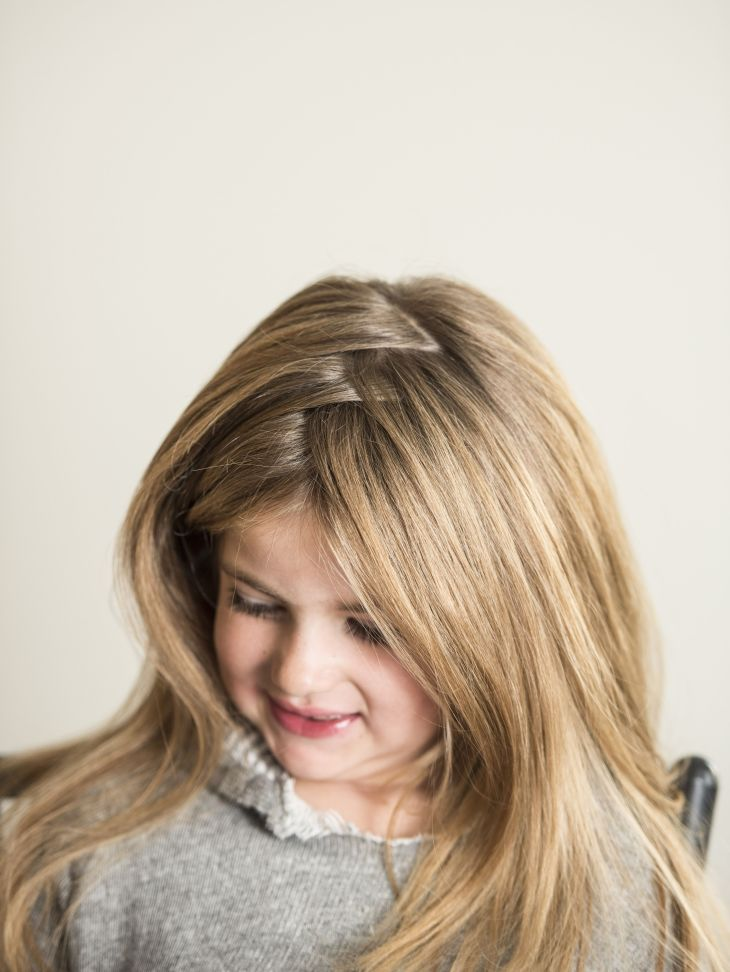 Cute hairstyle for little girls ZigZagPart StylStyk Hair Easy