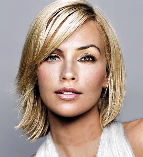 Medium Haircuts Round Face And Thin Hair For Women With Faces Fine