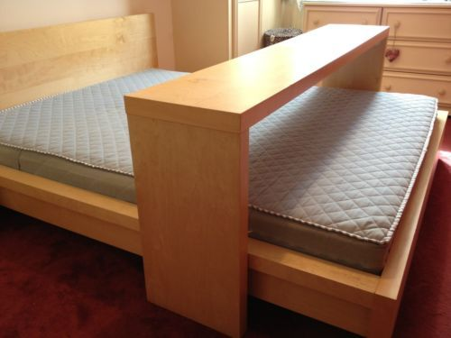 Ikea Malm Kingsize Bed With Mattress And Sliding Overbed