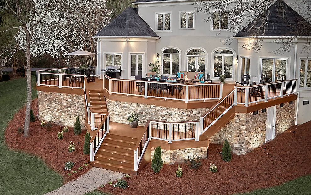 trex enhance composite decks and decking materials trex on steps in discovering the right covered deck ideas id=27621