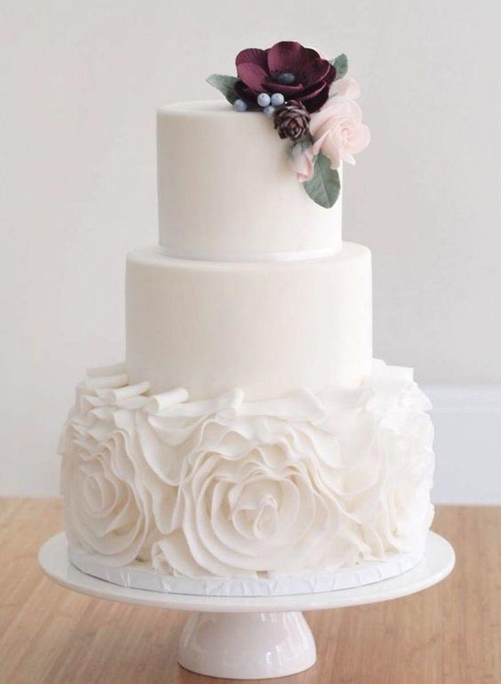 simple and elegant wedding cake ideas Elegant wedding cakes