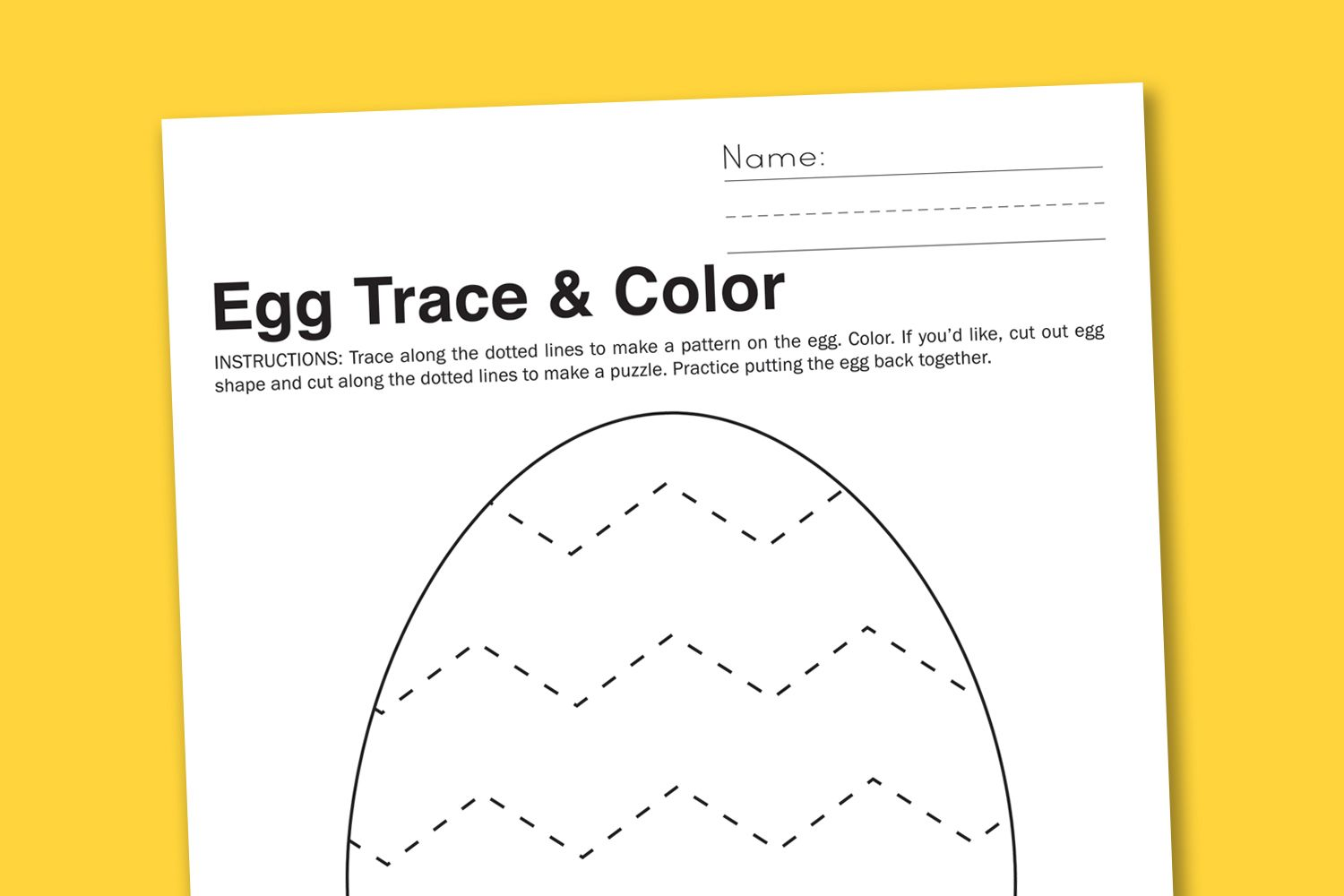 Free Printable Worksheet Chevron Easter Egg To Trace