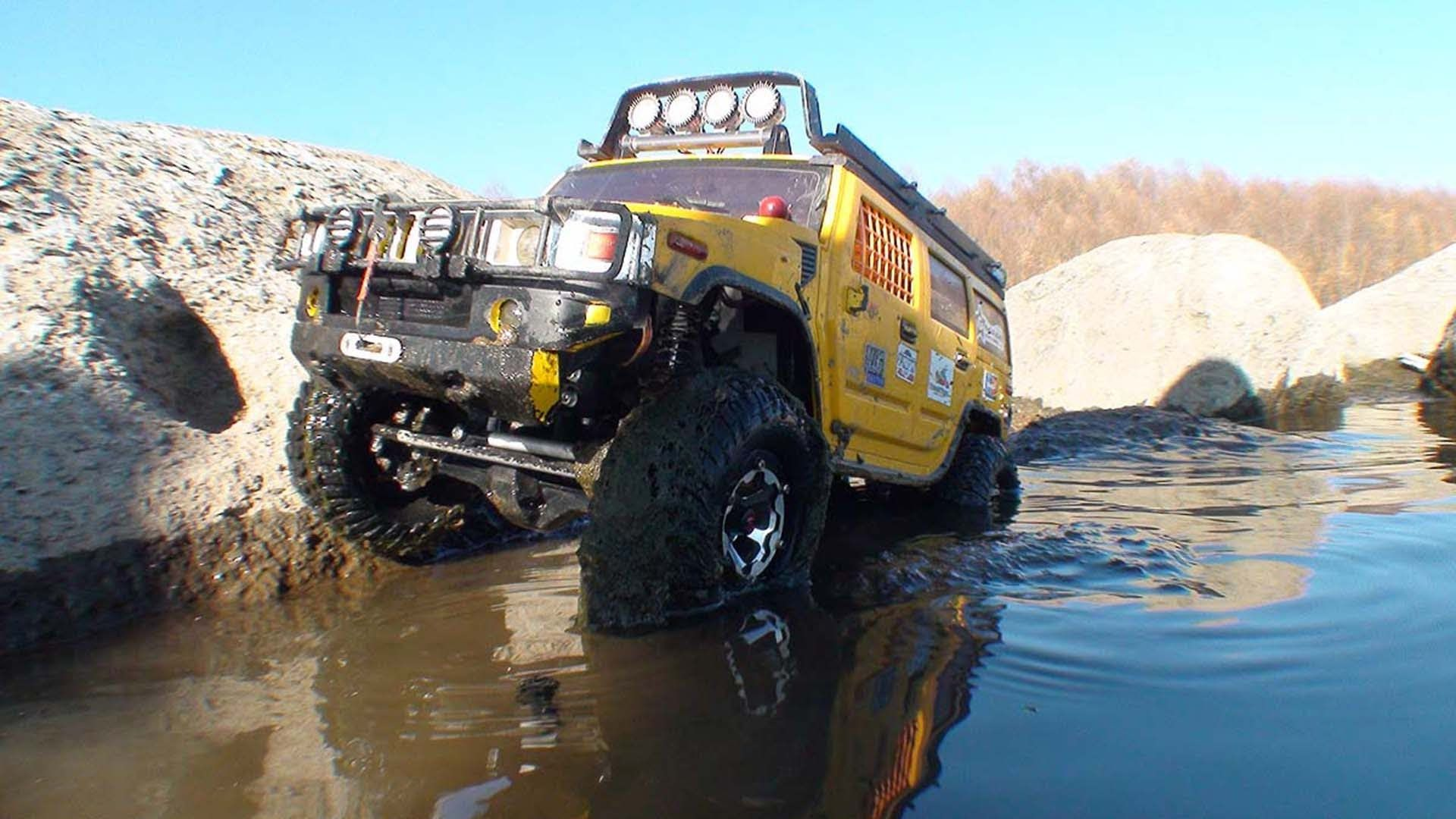 4x4 Hummer H2 OFF Road MUD RC Axial Wrait UOUUUUUUU