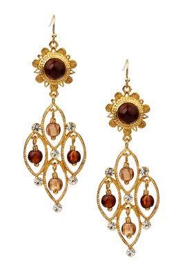 Venezia Amber Chandelier Earrings
