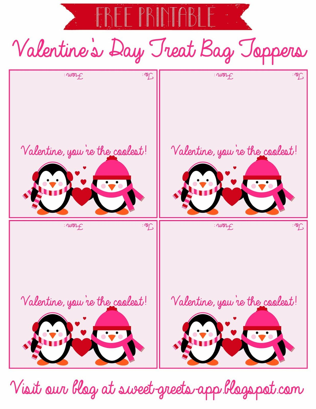 Free Printable Valentine S Day Treat Bag Toppers