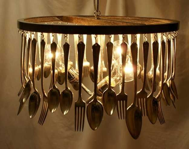 21 Unique Lighting Design Ideas Recycling Tableware And Kitchen Utensils Into Fixtures
