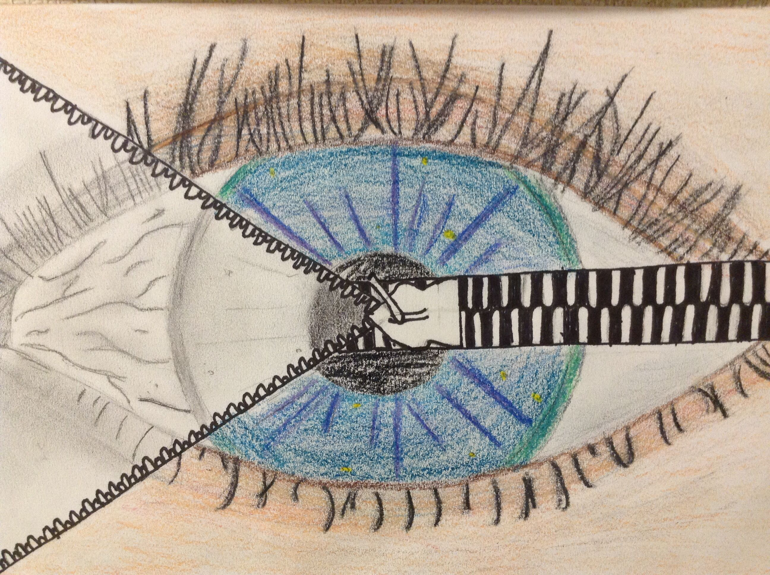 Surreal Eye Middle School Drawing Class Inspired By