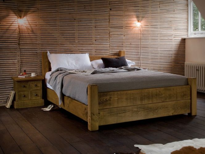 Wooden Beds Chunky Solid Wood Handmade Bed Frames For