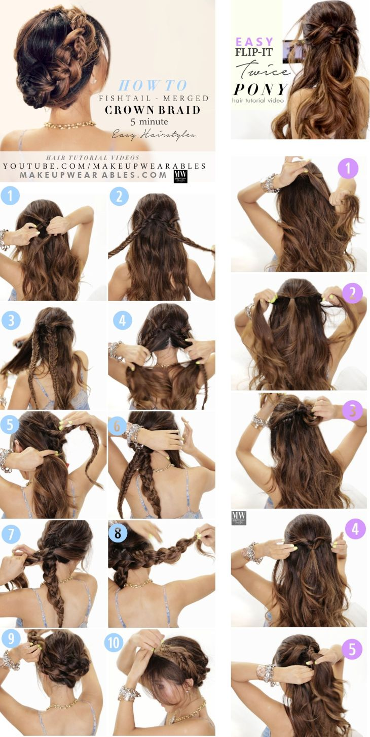 Easy Back to School Hairstyles with Merged Braids hair tutorial