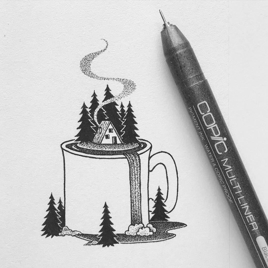Pen Drawing By Peta Heffernan