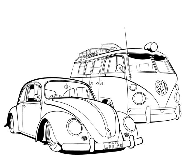 Vw Beetle Coloring Pages Google Search All Things