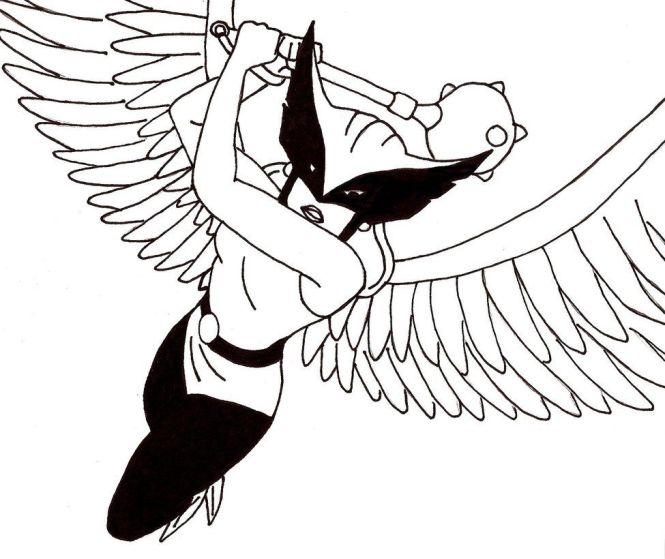 Hawkgirl Coloring Pages 18 Jpg 975 820