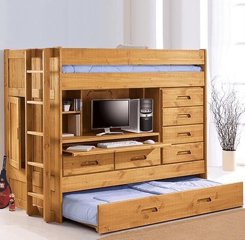 Loft Bed With Dresser Desk On Pinterest Trundle Beds