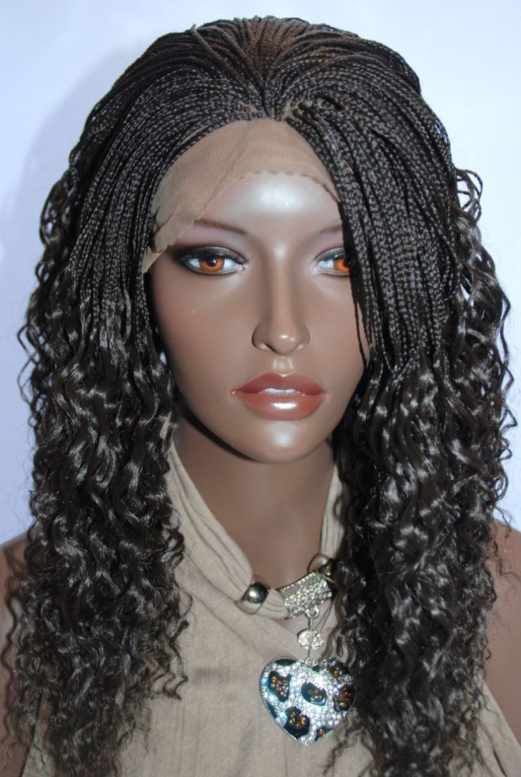 Braided Lace Front Wig Micro Braids Color in Inches GRACEL