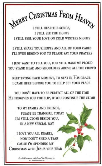 merry christmas mom and dad in heaven poem poemview co - Merry Christmas In Heaven Dad