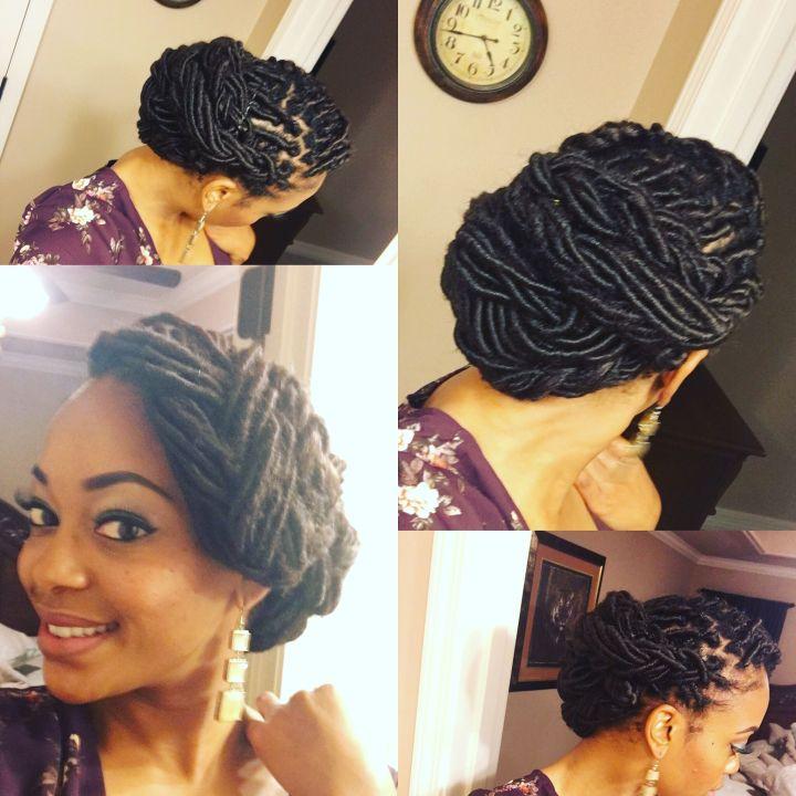 Beautiful Loc Updo Goddess Loc Style Hair Pinterest