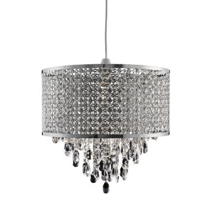 60 Jewelled Moroccan Large Drum Easy Fit Pendant At Homebase Be Inspired And