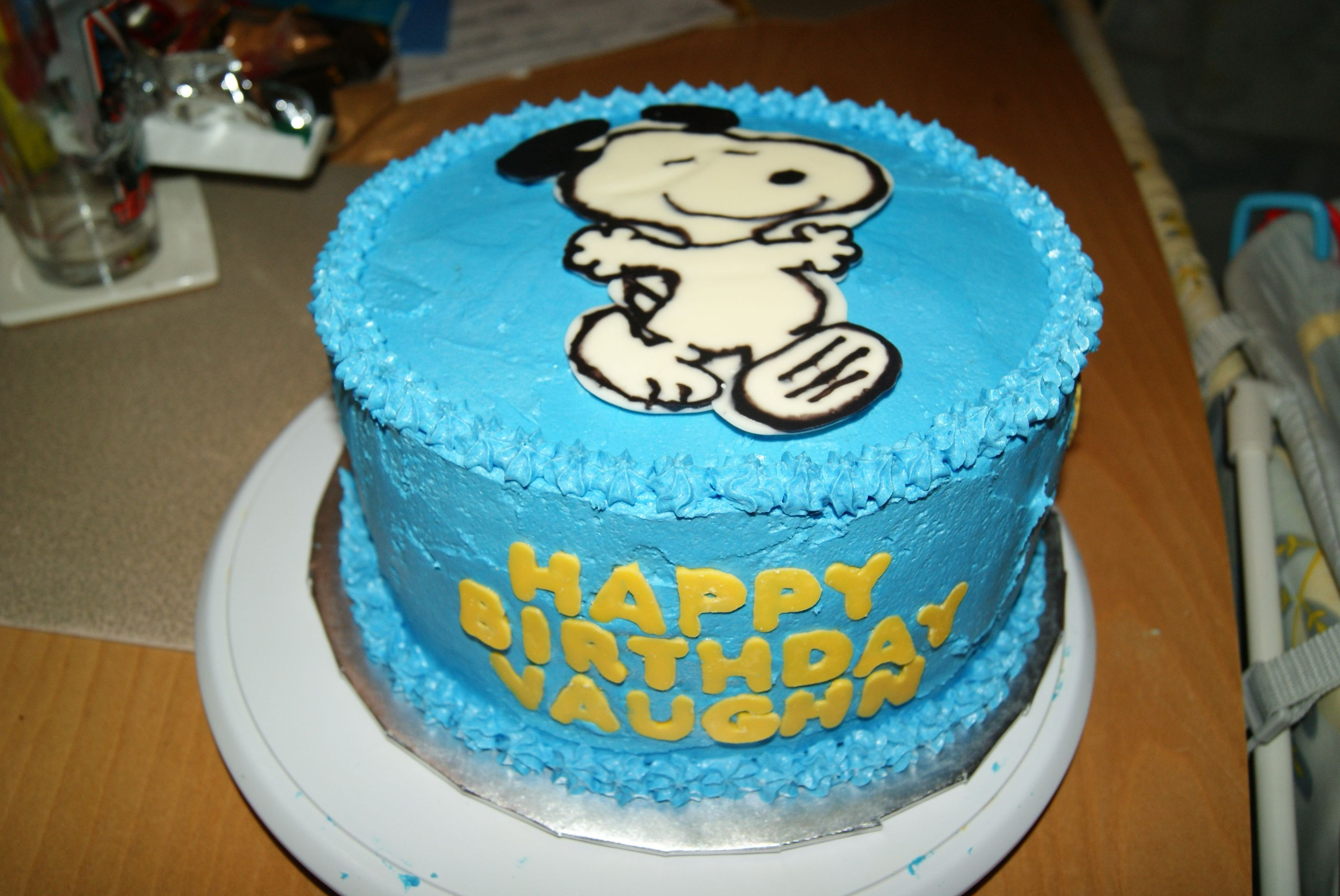 Snoopy Cake I Made For My Son S First Birthday Party