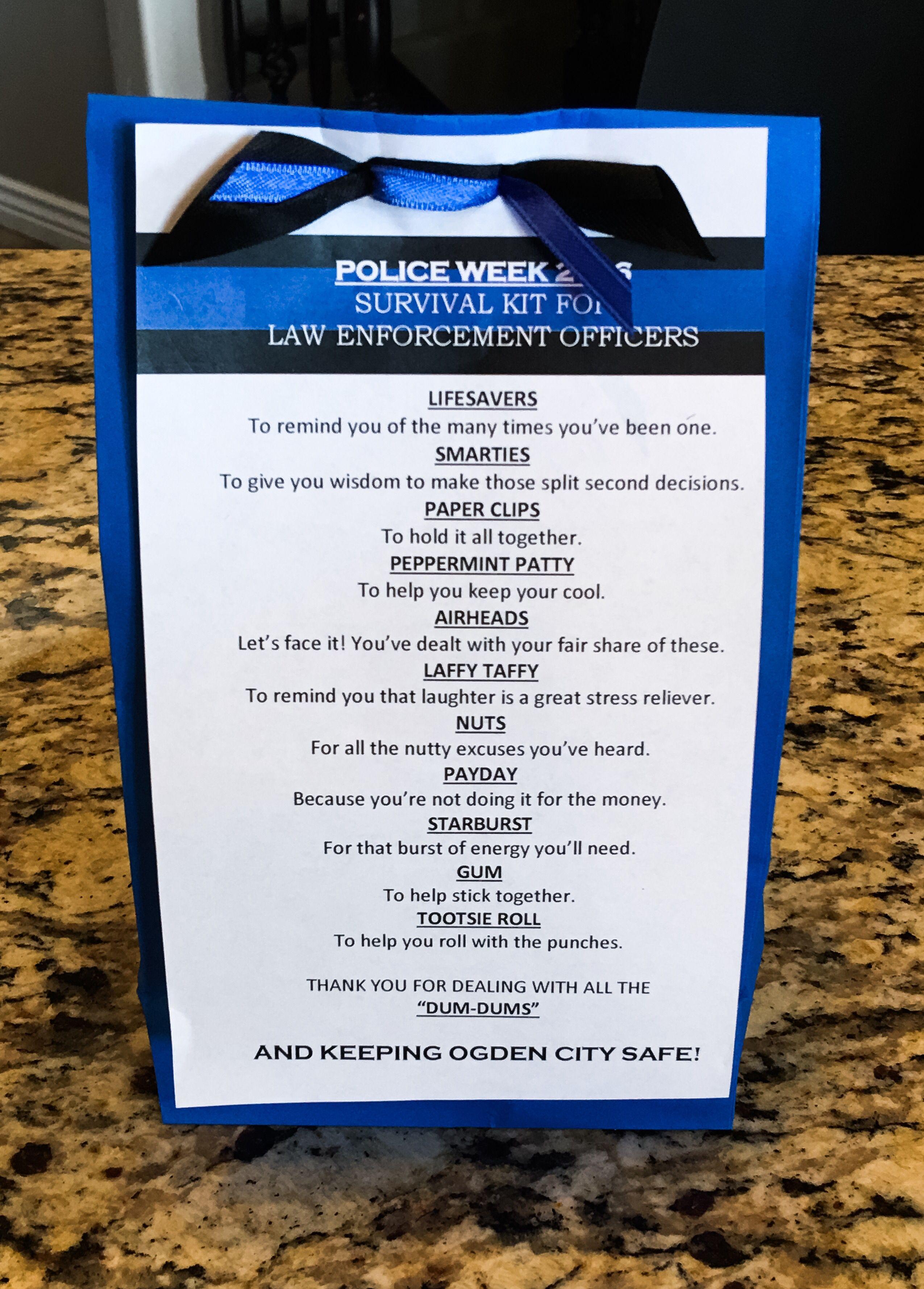 Police Officer Survival Kit Police Week