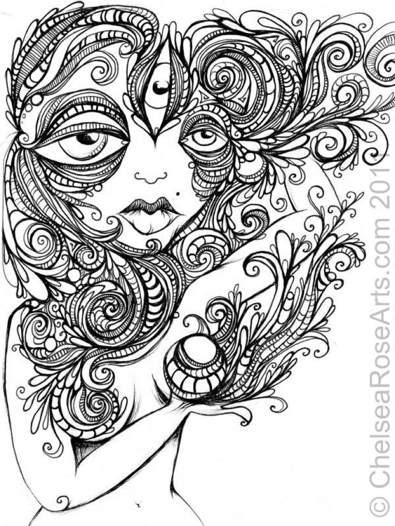 trippy weed  free coloring pages