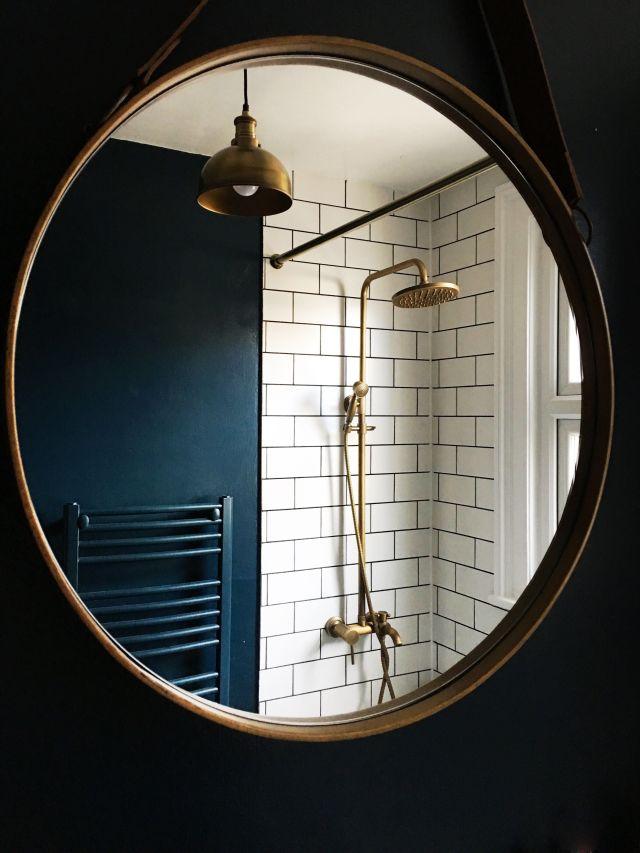 Antique brass showerhead shower rose brass industrial light