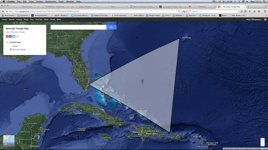 Map Of Bermuda Triangle » Online Interactive Map Wallpapers | Online ...