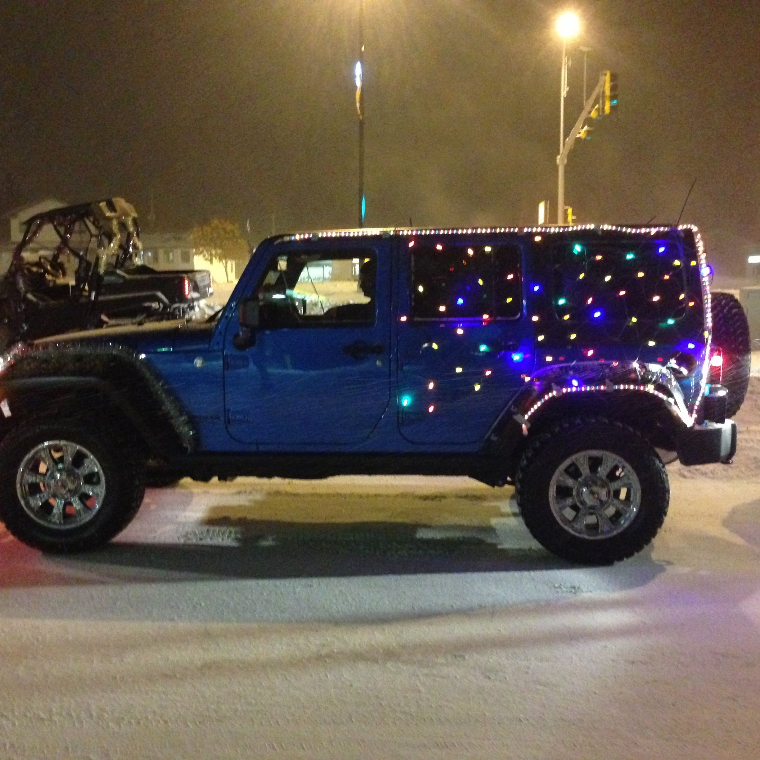 Cold Lake Chrysler s Jeep decorated for parade JEEP4LIFE