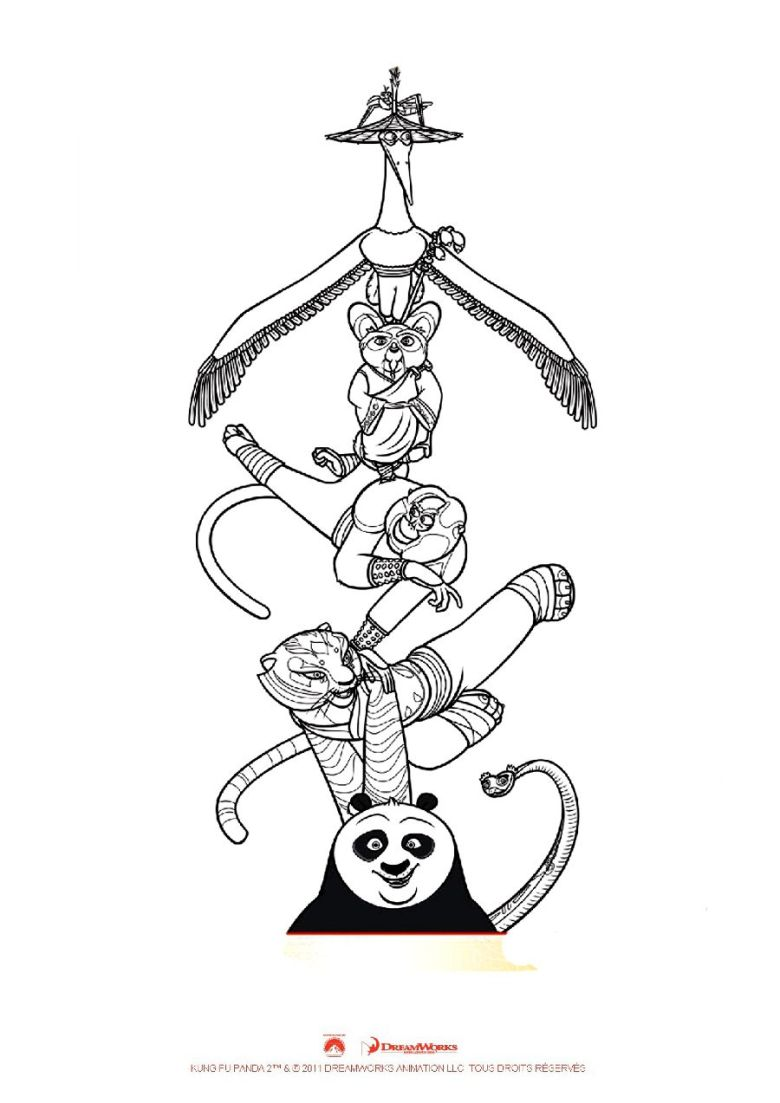 kung fu panda coloring page from kung fu panda category. select