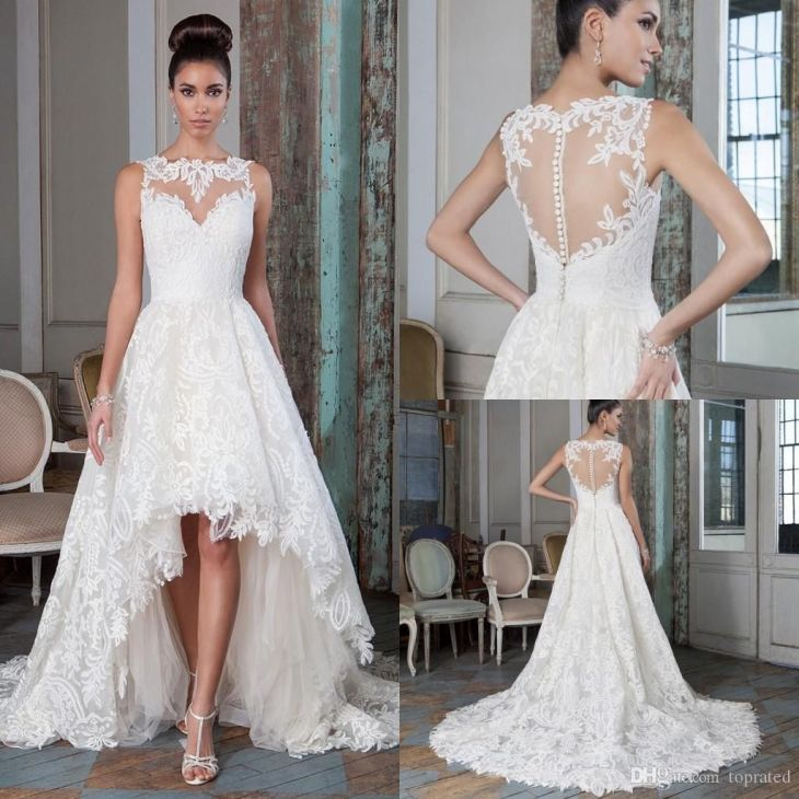 New Collection  Lace Wedding Dresses A Line Sexy Bridal Gowns