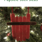 days of christmas diy popsicle stick sled ornaments u organized