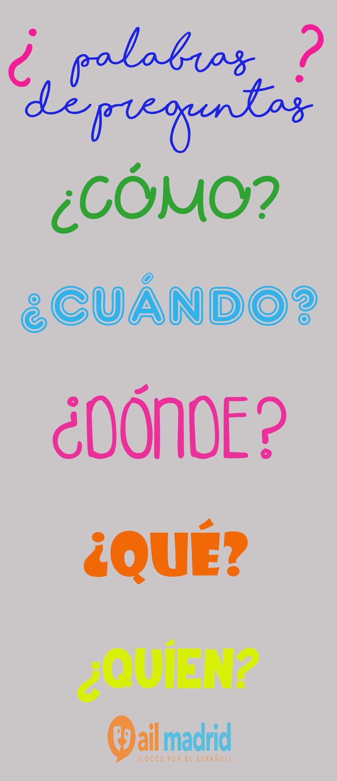 Palabras De Preguntas En Espanol Aprendeespanol