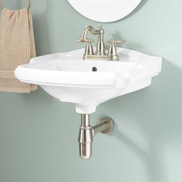 Halden Porcelain Wall Mount Bathroom Sink