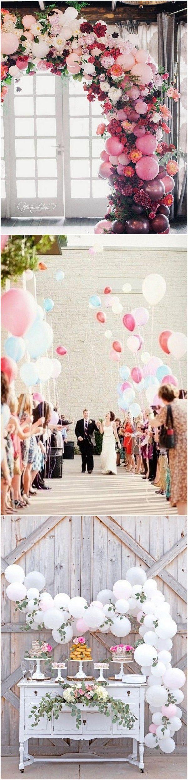 Romantic Wedding Decoration Ideas with Balloons  Dessert table