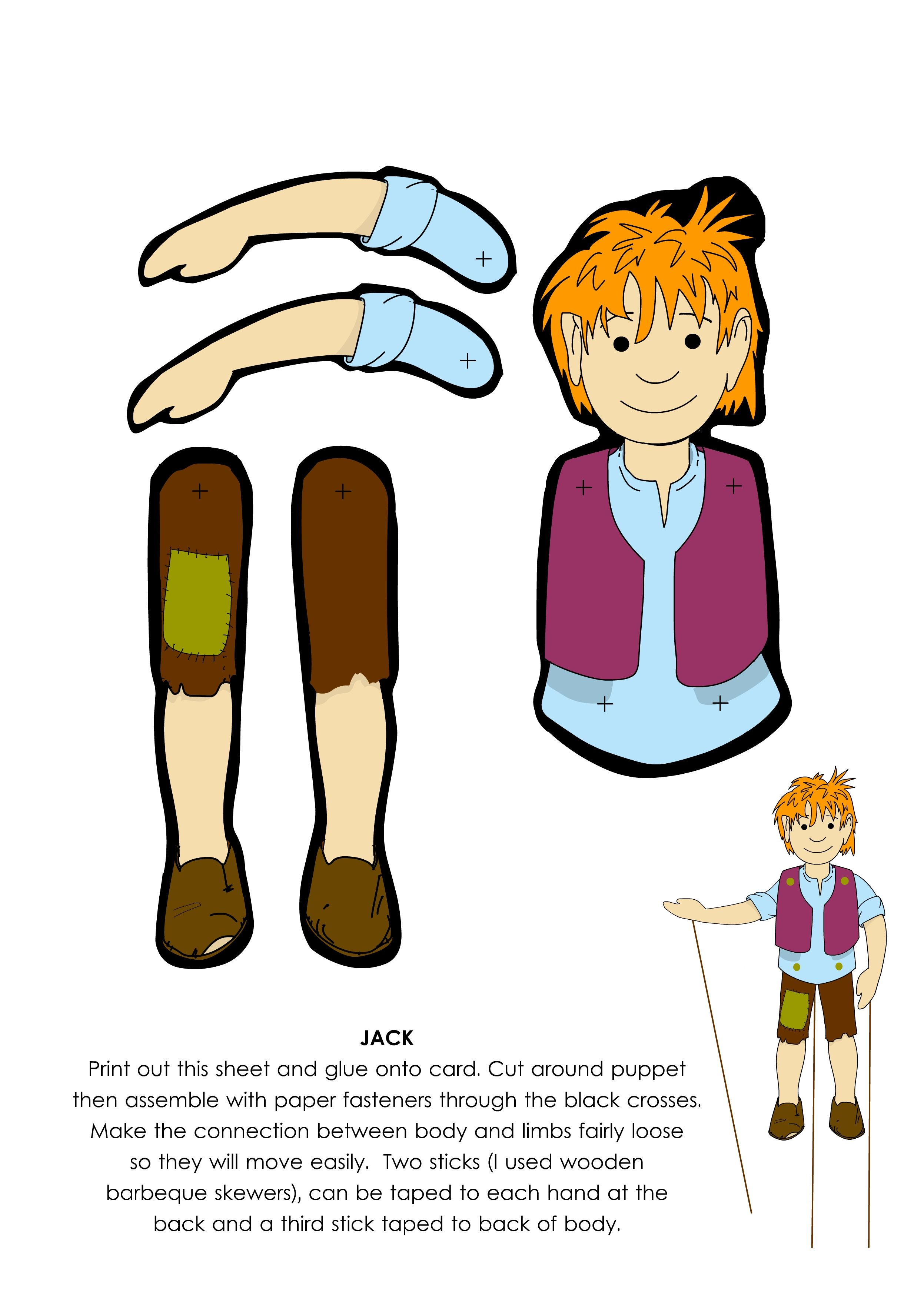 Jack Puppet From Jack And The Beanstalk From Littleredlanguages This Story Plus The