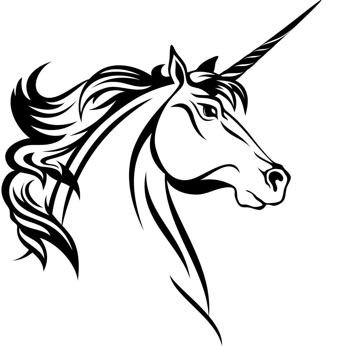 Unicorn Head Horse Animals Wall Art Sticker Decal