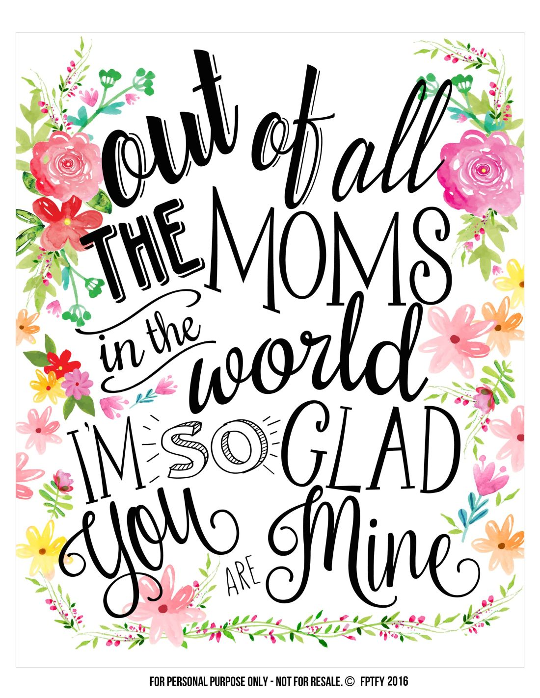 Creative mothers day gifts tags and wall art included