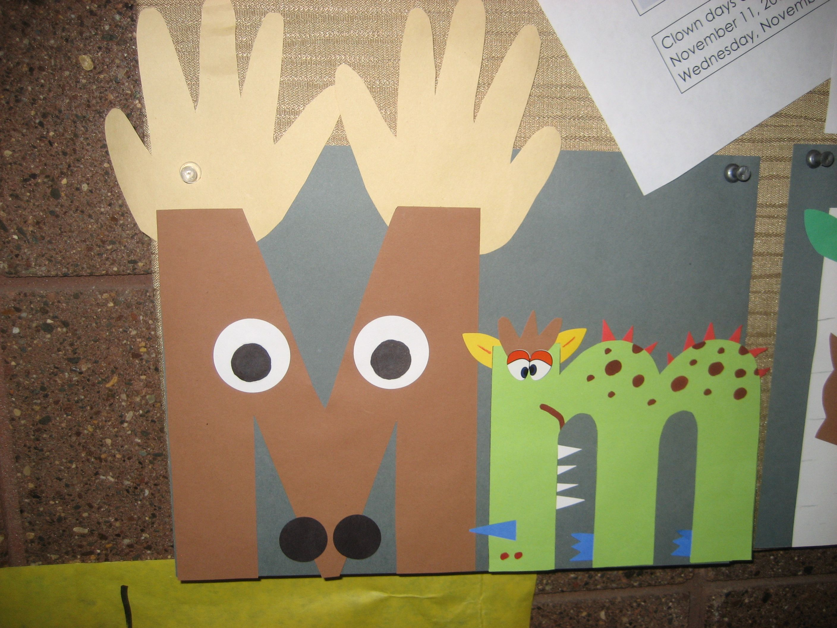 Mm Letter Of The Week Art Project Moose And Monster