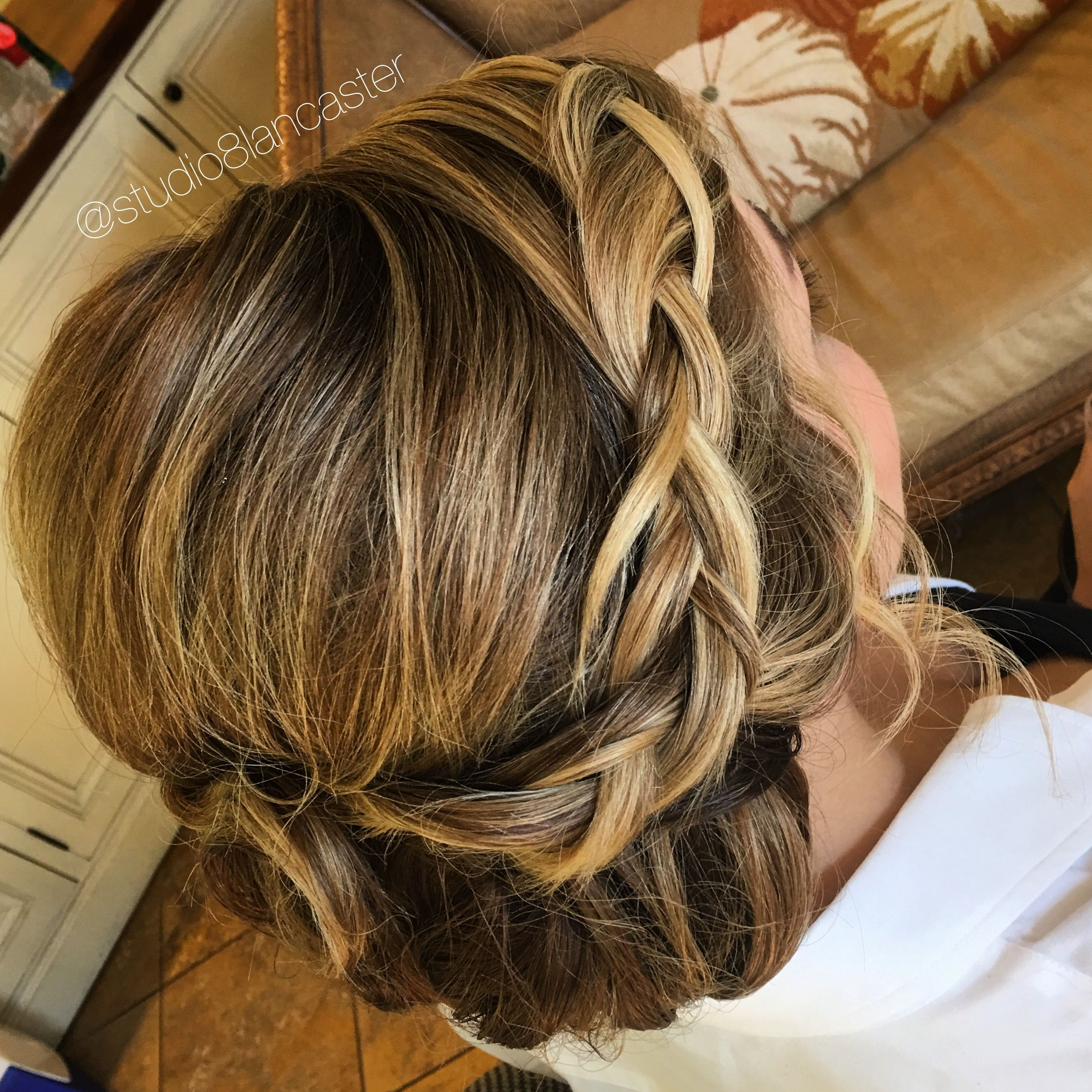 Braided bridesmaid updo romantic undone hairstyle Fall wedding