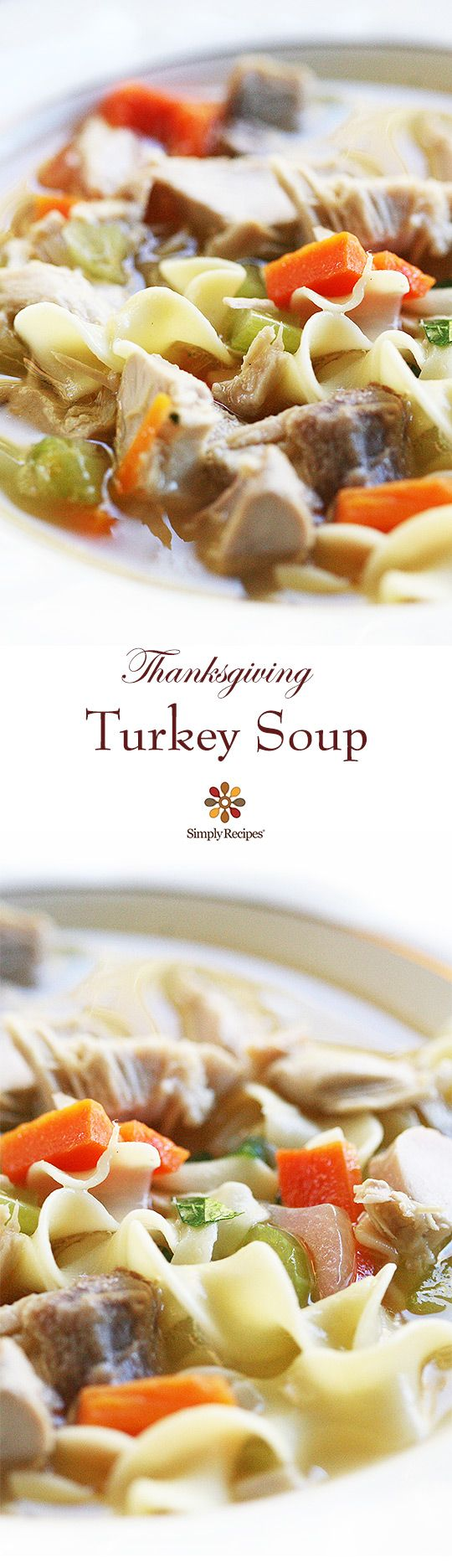 Classic turkey soup recipe! Every Thanksgiving my mother takes what's left of the turkey carcass and makes a delicious turkey soup