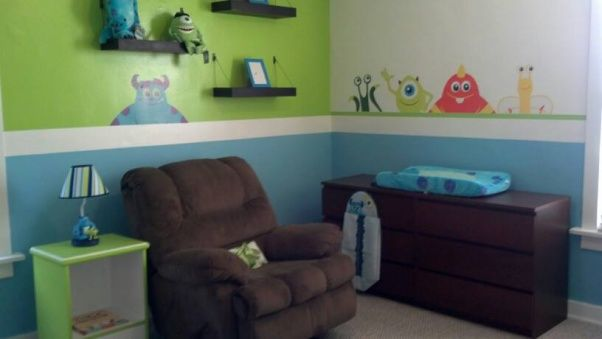 Monsters Inc Bedroom Decor They Have Stickers Like This On Ebay