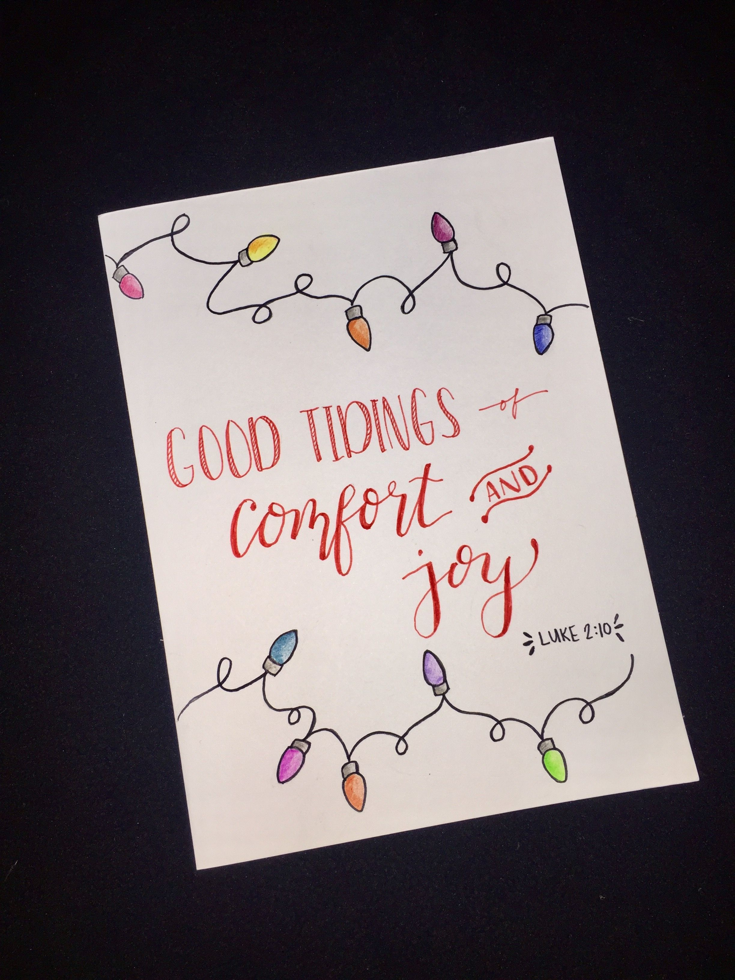 Simple Hand Drawn Colored Pencil Lights Calligraphy