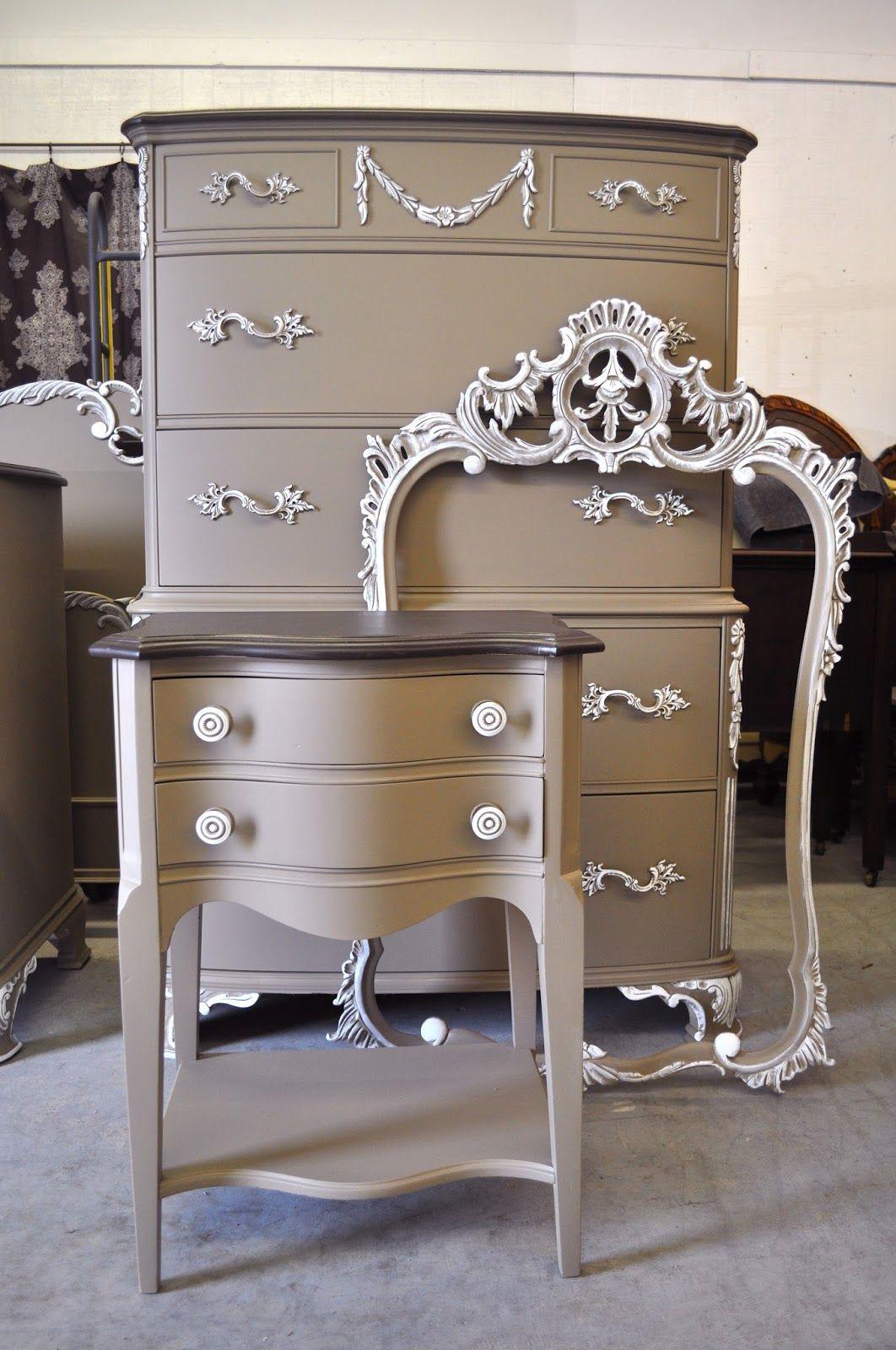 vintage charm and restoration custom painted furniture on desk color ideas id=63871