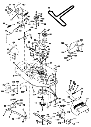 MOWER DECK Diagram & Parts List for Model 917270810
