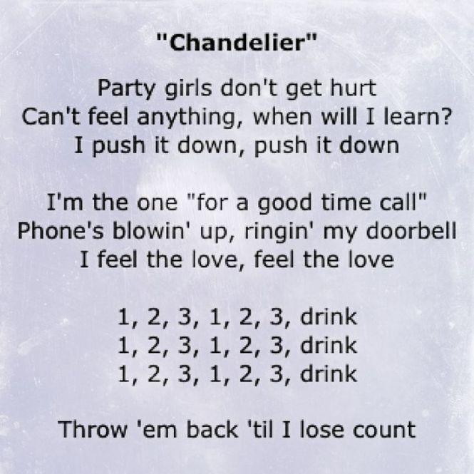 Lyric chandelier chandelier ideas chandelier song lyrics i pinterest aloadofball Choice Image