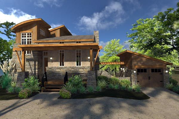 Contemporary Cottage Craftsman Modern Tuscan House Plan